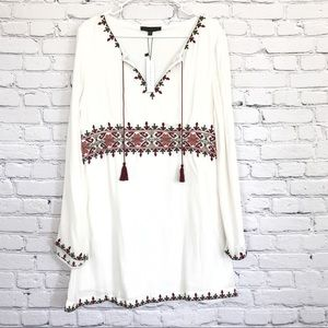 Sanctuary Long Sleeve Dress Embroidered New Size 8